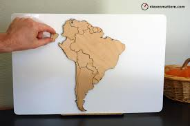 Seven Continents Map South America Map Puzzle South America Map Puzzle South