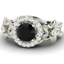 nature inspired engagement rings shaped black engagement ring