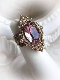 vintage crystal rings images Vintage beauty light rose aged brass ring by image 2997456 by jpg