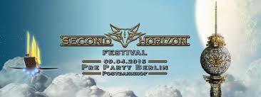 second berlin party flyer second horizon festival pre party berlin 9 apr