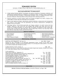 Radiologic Technologist Resume Examples Radiology Technician Resume 4 Resume Templates Radiology Resume