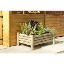 forest garden raised log garden planter at wilko com