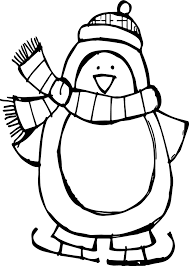 winter basic penguin coloring page wecoloringpage