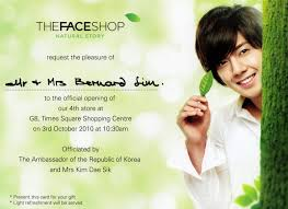 Shop Invitation Card Things I The Face Shop Time Square Brunei