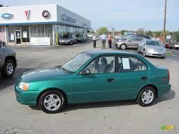 hyundai accent green 2001 jade green hyundai accent gl sedan 20079617 gtcarlot com