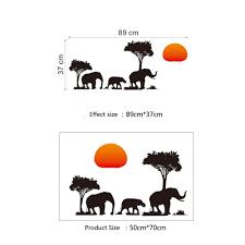 elephant jungle wall sticker ephante elephant jungle wall sticker