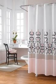 Dressed To Thrill Shower Curtain Grey And Pink Shower Curtain Shower Curtains Curtain Liners More
