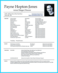 Resume Acting Template by Actor Resume Child Actor Resume Actor Resume Template Reflection