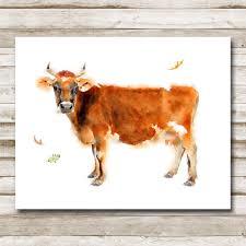 cow farmhouse printable 5x7 8x10 11x14 farmhouse print home