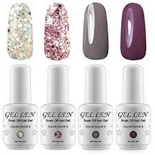 glitter uv led gel nail polish set gellen soak off nail polish