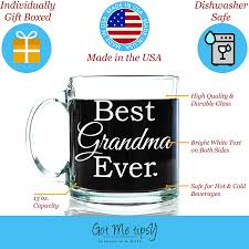 amazon com best grandma ever glass coffee mug 13 oz top