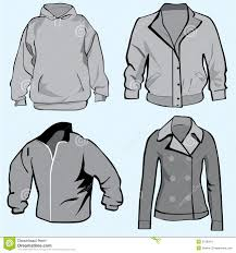 jacket hoodie coats or sweatshirt template stock image image