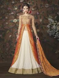 engagement lengha white designer punjabi lengha with silk choli for
