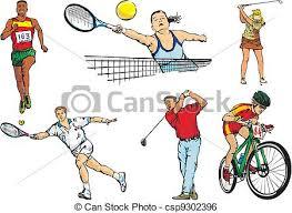 clip vector of sports team figures outdoor individual