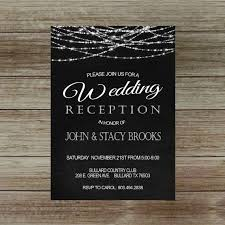 wedding reception invitation wedding reception invitation on chalkboard reception only