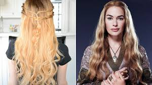 design hair game cersei lannister inspired hairstyle game of thrones hair tutorial