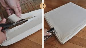 Recovering A Settee The Painted Hive How To Upholster A Drop In Seat From Scratch