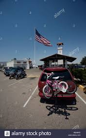 Big American Flags Along The Famous Route 66 In A Minivan Very Big American Flag