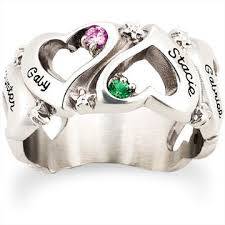 mothers ring with names 8 best rings images on rings family ring and