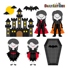 halloween graphic art halloween vampire castle clip art set daily art hub