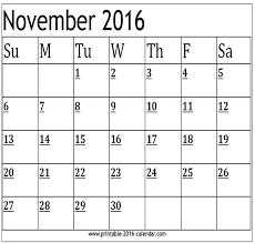 november 2016 calendar with usa holidays