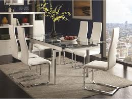coaster modern dining contemporary dining room set with glass