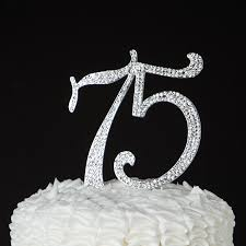amazon com 75 cake topper for 75th birthday or anniversary party