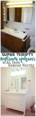 Ikea Hemnes Bathroom Vanity Thrifty Bathroom Makeover With An Ikea Hemnes Vanity The Happy