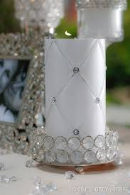 Bling Wrap For Vases This White Diamond Pattern Pillar Candle Is Unscented And Great