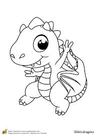 Coloriage dun bébé dragon