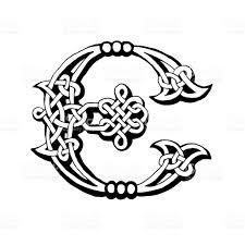 celtic letter e stock vector art 185271069 istock