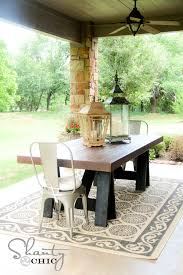 Plans For Outside Furniture by Ana White Sawhorse Outdoor Table Diy Projects
