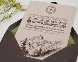 mountain wedding invitations grey mountain wedding invitation postcard rsvp seattle