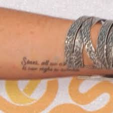 lindsay lohan u0027s marilyn monroe quote tattoo steal her style