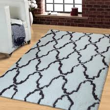 trellis collection hand woven and soft shag rug egyptian cotton