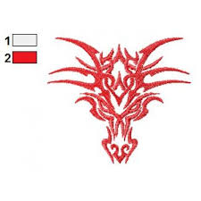 dragon tattoo embroidery design