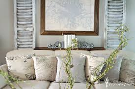 how to decorate a shelf in living room faux shutter and rustic french touches