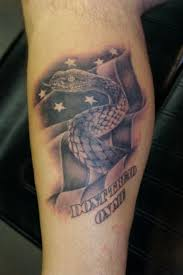 Patriotic Flag Tattoos Don T Tread On Me Tattoos Designs Ideas And Meaning Tattoos For You