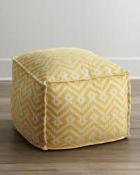 threshold round tufted yellow storage ottoman