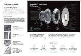 shower fan light white 70 cfm ceiling exhaust fan light bathroom