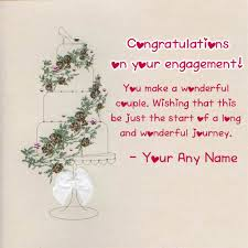 congratulations on engagement card wishes congratulations greeting name card image