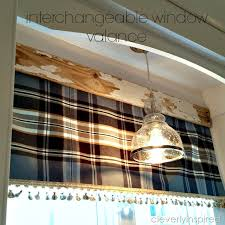 How To Make A No Sew Window Valance No Sew Interchangeable Window Valance Cleverly Inspired