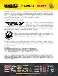 rockstar motocross goggles fly racing and dragon optics sign with rockstar energy otsff