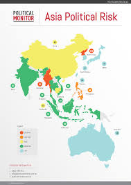 Countries In Asia Map by Political Turmoil Limits Asia U0027s Growth Asia Political Risk Index