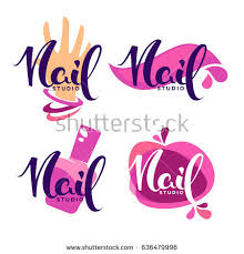 vector logo template your nail studio stock vector 636479996