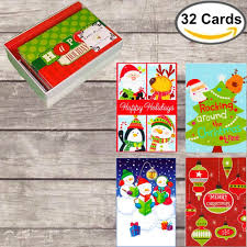amazon com 32 assorted boxed christmas cards with envelopes