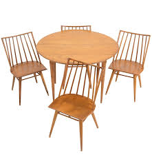 Maple Wood Furniture Maple Wood Dining Table And Chairs By Russel Wright For Conant