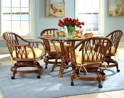 dinette table and chairs with casters kitchen table and chairs with wheels dining chair wheels s s cheap