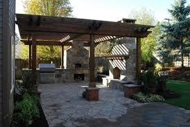 Timber Patio Designs Astounding Outdoor Kitchen Patio Designs With Outdoor Veneer