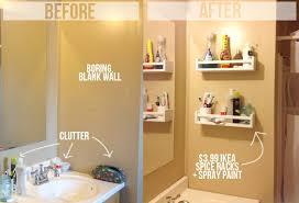 Bathroom Shelf Organizer by Awesome Diy Bathroom Hacks For More Space Storage Com